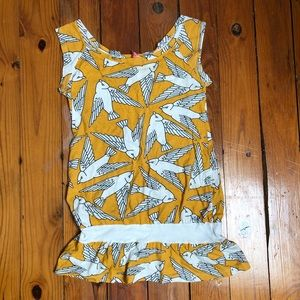 Lux bird dress M urban outfitters mustard